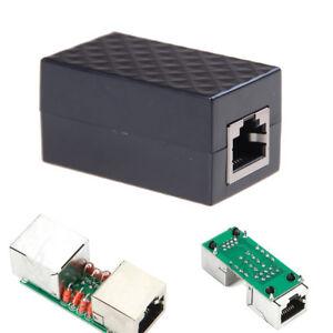 RJ-45 Blitzableiter Adapter Ethernet Überspannungsschutz Netzwerk ProtecR_yk