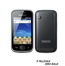 5 Pellicola per Samsung Galaxy Gio S5660 Protettiva Pellicole SCHERMO LCD