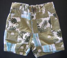 NWT: New 3-6 mos. Gymboree Olive Green Elephant Jungle Plaid Shorts
