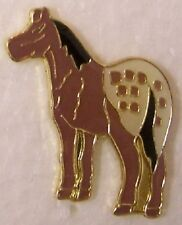 Hat Lapel Pin Scarf Clasp Animal Horse Spotted NEW