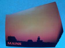 Maine Goat Island Light Cape Porpoise Me Identical Postcard Lot Of 25 Unused! 3h
