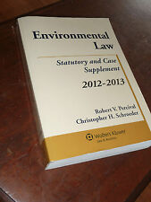 Environmental Law: Statutory and Case Supplement 2012-2013.  Percival/Schroeder.