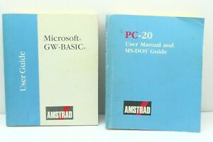 Vintage AMSTRAD PC-20 User's Manual and Microsoft GW-Basic User's Guide