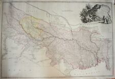 INDIA - A MAP OF BENGAL, BAHAR, OUDE & ALLAHABAD WITH PART OF AGRA & DELHI, 1786