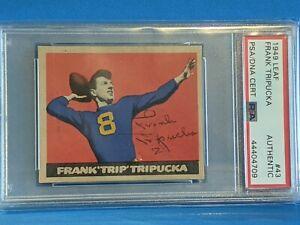 Frank Tripuka 1948 Leaf signed/auto - PSA/DNA - Notre Dame Collection