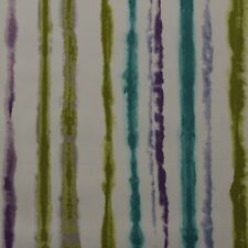 """P KAUFMANN COLOR LESSON PEACOCK BLUE WATERCOLOR STREAKS FABRIC BY YARD 54""""W"""