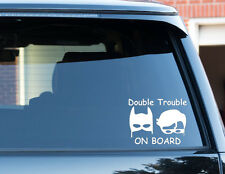 Batman Double Trouble On Board Twins Baby Child Window Car Sign Decal Sticker