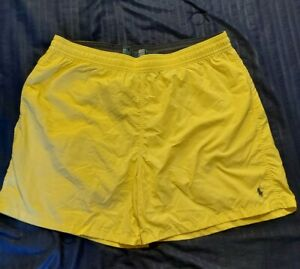 NEW POLO RALPH LAUREN Mens PONY LOGO YELLOW Swim Trunks Suit Shorts 2XB Big Tall