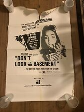 Original 1973 Dont Look In The Basement One Sheet Movie Poster Horror