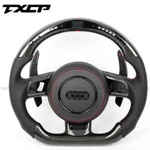 Real LED Carbon Fiber Steering Wheel for Audi A4 S3 S4 RS3 RS4 RS5 TT TTS