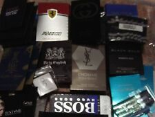 LOT 30A  MENS COLOGNE SAMPLES - DESIGNER BRAND VERY NICE-ysl,gucci,versace