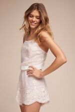 BHLDN Yoanna Baraschi Sunita Romper Boho Lace Bridal Wedding Small See-Through