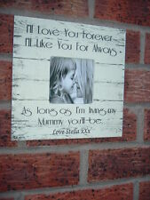 shabby vintage chic I'll love you forever mum photo frame personalised gift