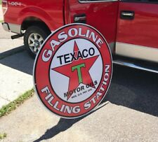 "TEXACO GAS OIL SIGN 40"" VERY LARGE ADVERTISING VINTAGE LOOK PEGASUS MOBILE"