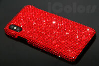 Red Bling Diamond Case Cover For iPhone X XR XS Max 6 7 8 WITH SWAROVSKI ELEMENT