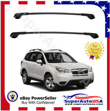 FIT FOR 2014-2018 Subaru Forester OE STYLE Aero Cross Bars TOP Roof Rack LUGGAE