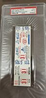 1978 REDS v BRAVES PETE ROSE HITTING STREAK- 44 GAMES FULL TICKET PSA GM MINT 10