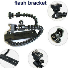 Flexible Dual Twin-Arm/Hot Shoe Flash Bracket for CANON NIKON PENTAX MACRO SHOT