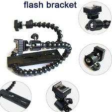 Brazo flexible de doble Twin -/Soporte Flash De Zapata Para Canon Nikon Pentax Macro tiro