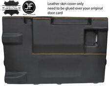 GIALLO Stitch PORTELLONE PORTA CARD LTHR Copertura Per Land Rover Defender 90 03-17 3DR