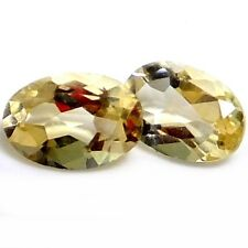 NATURAL LIGHT YELLOW CITRINE GEMSTONES LOOSE 2 pieces OVAL-SHAPE