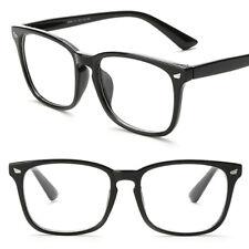 Clear Lens Black Frame Eye Glasses Designer Fashion Nerd Geek Mens Womens New