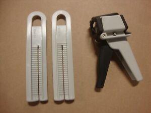 TAH PLUS NORDSON EA50T Manual Cartridge Dispenser 50ml with 1:1 & 2:1 PLUNGERS