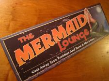 Mermaid Lounge Beach Kitchen Sign Home Tiki Bar Decor Cast Away Your Troubles