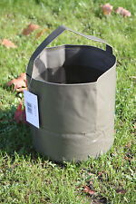 10 LITRE Folding Water Bucket Packs Small Camping Green Fishing Collapsible Army
