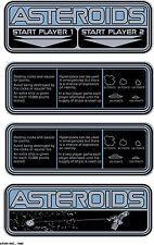 Asteroids arcade instuction cards sticker set