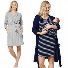 HAPPY MAMA Women's Maternity Nursing Set Nightshirt & Robe & Baby Coverlet 1059