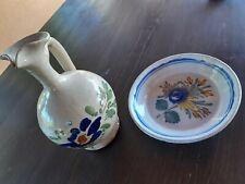 Lotto Ceramica Caltagirone Brocca E Piatto Terracotta antica Sicilia