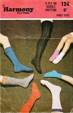 FAMILY SOCKS / 4ply & 8ply  - COPY sock knitting patterns