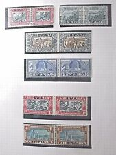 South West Africa.1938 Voortrekker Centenary Both Perf Types.6 Pairs