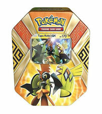 POKEMON: TIN SET TAPU KOKO GX in ITALIANO - Carta TAPU KOKO GX + 4 Bustine