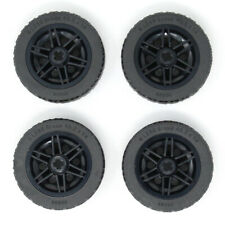 Lego 4x Genuine Technic Large Black Wheels with Black Tyres Tires 43.2x14mm NEW