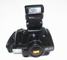 Fuji Discovery 3000 Zoom Date 35mm auto film camera w/accesory flash S#31205189