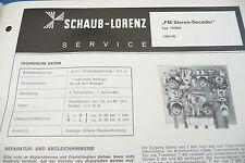 Service Manual-Anleitung für Schaub-Lorenz FM-Stereo-Decoder, 790903
