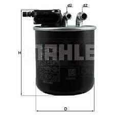 MAHLE Inline Fuel Filter - KL942 - Fits Mercedes Benz A, B, CLA, GLA