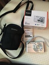 Sony Cyber-Shot DSC-W830 20.1MP Digital Camera - Silver With Case