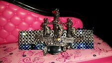 Crystals & PIRATE SHIP Jewelry BARRETTE Blues/Clear SAIL ON!
