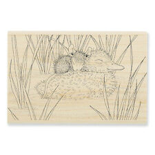 HOUSE MOUSE RUBBER STAMPS DUCKY NAP NEW WOOD STAMP