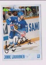 93/94 Classic Draft Hockey Janne Laukhanen Finland Autographed Card