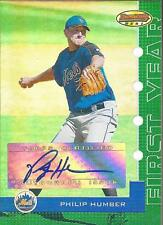 PHILIP HUMBER 2005 Bowman's Best First Year Rookie Autograph #/399 New York Mets