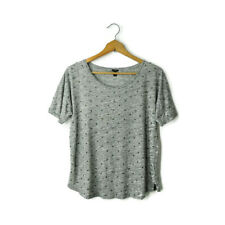 J Crew size M sequin dot t-shirt tee short sleeve soft cotton short sleeve gray
