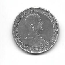 Hungary 1930 5 pengo silver VF+ (crown size)