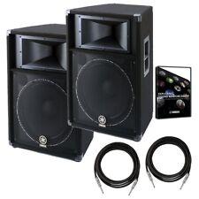 "Yamaha S115V 15"" Two-Way Passive PA Speaker BONUS PAK"