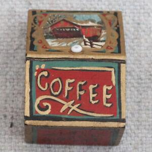 Patti Highfill Victorian Wooden Dollhouse Miniature Coffee Tin Box Container