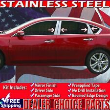 Fits 2013 2014 2015 2016 2017 NISSAN ALTIMA Stainless Steel 8PC Pillar Posts