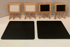 6 Mini Chalk Board Display Signs: 2 White Easels 2 Black Easels & 2 6x8 Flat Blk